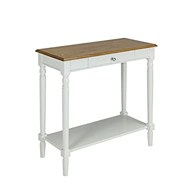 Convenience Concepts 6042188RO French Country Hallway Table, Rustic Oak/White