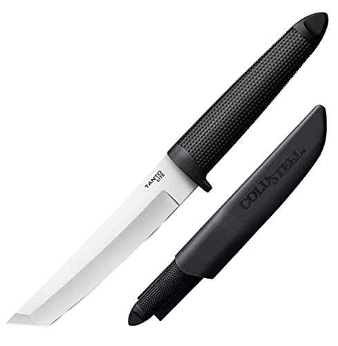 Cold Steel Tanto Lite Fixed 6 in Blade Kray-Ex Handle, Black (20TL)