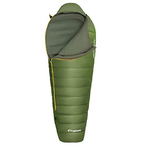 KingCamp Mumien Schlafsack Protector 370 3 Jahreszeiten Camping Daunen Lang -10°C Grün