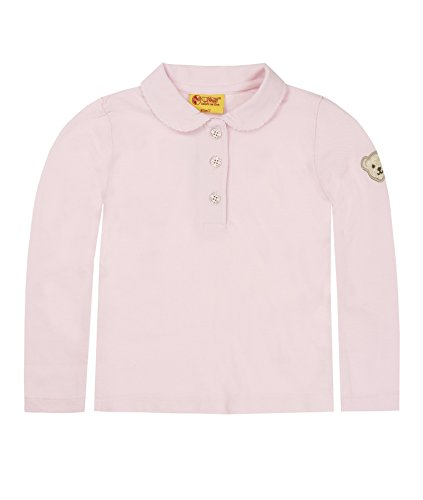 Steiff Steiff Baby-Mädchen 6836 Poloshirt, Rosa (Barely Pink 2560), 80 (Herstellergröße: 74)