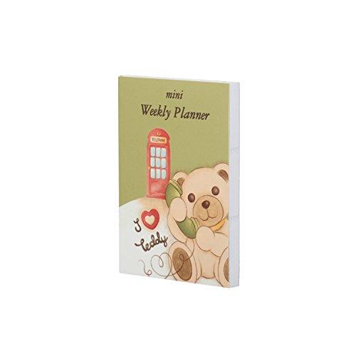 THUN ® - Mini Weekly Planner London - Linea Teddy on The Road - 10,5 x 7,5 x 0,8 cm