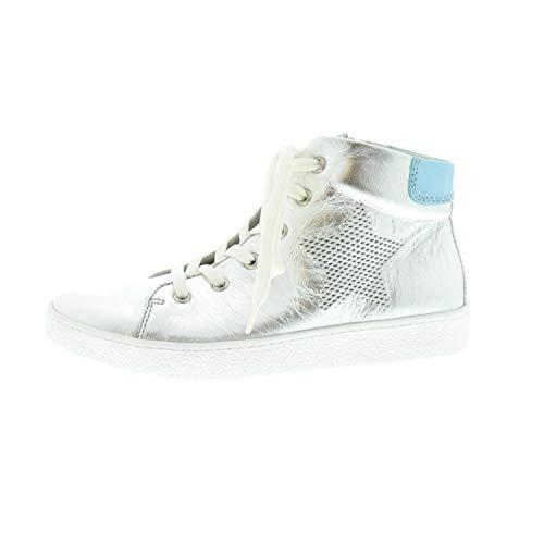 Richter meisjes laarzen sneaker Silver Atlas (zilver) glad leder 36415440202