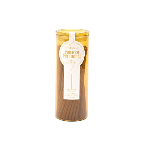 Paddywax Candles Haze Collection Incense Sticks in Glass Jar, 100-Piece, Tobacco Patchouli, 100 Count