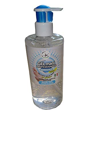 WK/Euroacque Gel Mani Professionale Igienizzante | Alcool 70% | 500 Ml