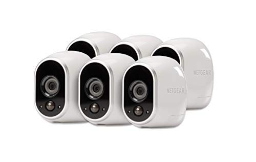 Arlo - Wireless Home Security Camera System with Motion Detection   Night vision, Indoor/Outdoor, HD Video, Wall Mount   Cloud Storage Included   6 camera kit - Eco Packaging (VMS3630B)