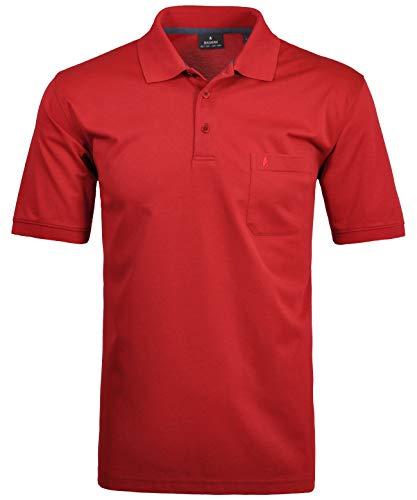 RAGMAN Herren RAGMAN Kurzarm Softknit Poloshirt X-Large, Beere-665