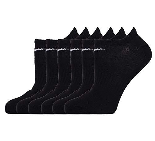 Nike Everyday Lightweight Socks Socken 6er Pack (L, black/white)