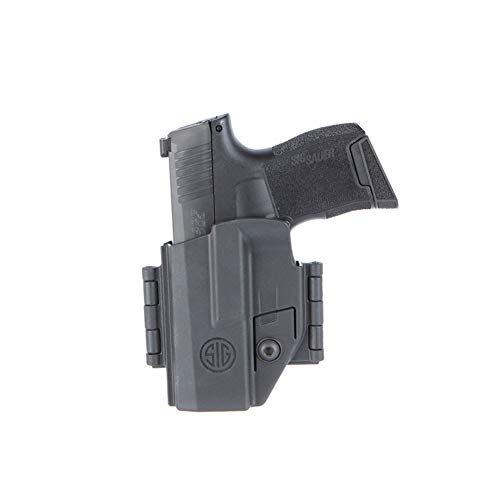 SIG Sauer HOL-365-AMBI P365 Ambidextrous IWB/OWB Belt Clip Black Polymer Holster