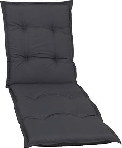Sitzpolster Auflage Nizza von beo, für Rollliegen, 195x62x7cm - anthrazit wasserabweisend