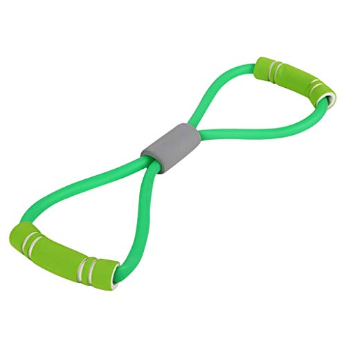 Resistance Bands Set, Pilates Workout Elastic Exercise Bands – 8 Shaped Chest Expander Loop - Fitness Arm Pull up Rope Tube Home Gym for Yoga glute Muscle Legs Strength Training (Green)