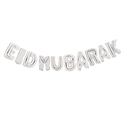 Party Balloon Set metallische Aluminiumfolie für Mubarak Holiday Party Muslim Eid al-Fitr