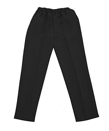 Silverts Disabled Elderly Needs Ladies/Womens Adaptive Clothing Open Back Wheelchair Pants - Black LGE, Large
