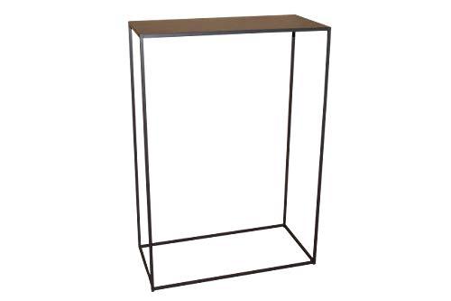 CALEIDO Konsolentisch Sideboard Beistelltisch Konsole Flurtisch Mali Metall Dunkelbraun Höhe 85 cm (Breite 60 cm)