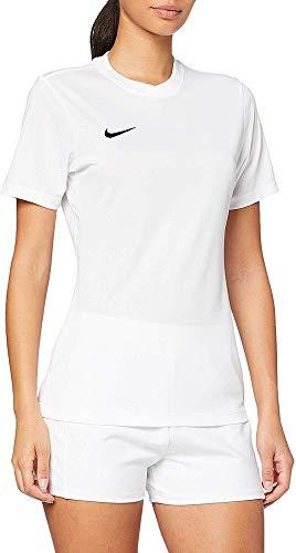 NIKE SS W Park Vi JSY Camiseta de Manga Corta, Mujer, Blanco (White/Black), XL