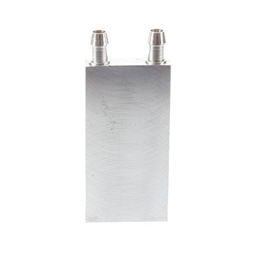 SODIAL(R) 80x40x12mm Wasserkuehlblock fuer CPU Grafik Kuehler Kuehlkoerper