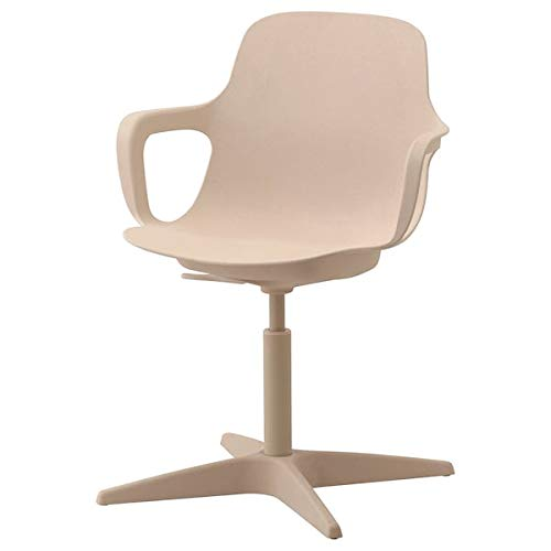 Tok Mark Traders ODGER - Silla giratoria, color blanco, beig