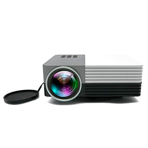 Leisure Mini Beamer LED-projector, 30000 uur thuisbioscoop beamer Full HD 1080P ondersteunt, compatibel met tv-stick, HDMI VGA USB AV TF voor smartphone laptop