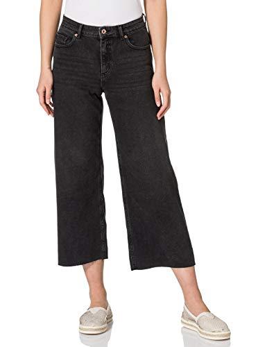 Only ONLSONNY HW Life CRP DNM BLK JNS NAS Jeans, Black Denim, 27W x 32L para Mujer