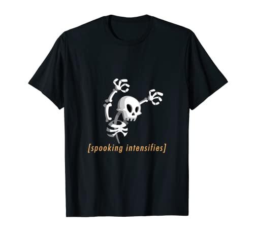 Spooking Intensifica, Miedo Esqueleto Meme Espeluznante Halloween Camiseta