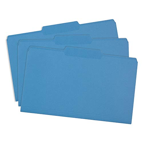 Blue Summit Supplies Blue Legal File Folders, Legal Size, 1/3 Cut Tab, Great for Organizing and Easy File Storage, File Folders 100 Count