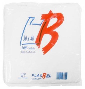 Bolsas Plastico Asa Camiseta 30 x 40 cm. 200 unidades