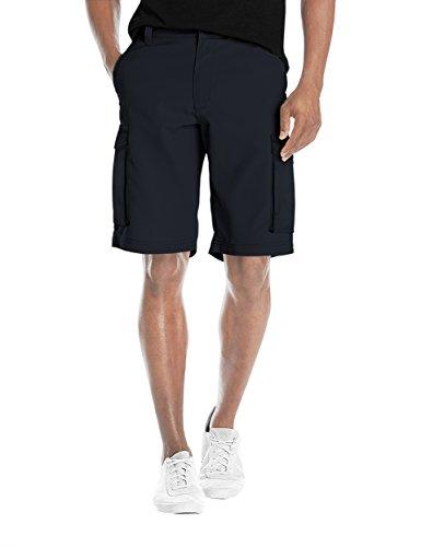 Agile Mens Super Comfy Flex Waist Cargo Shorts ASH45168 Navy 36