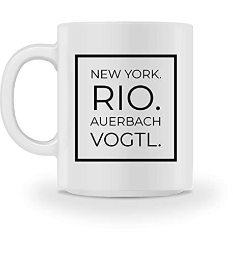 Generisch Auerbach Vogtl - Tasse -M-Weiß
