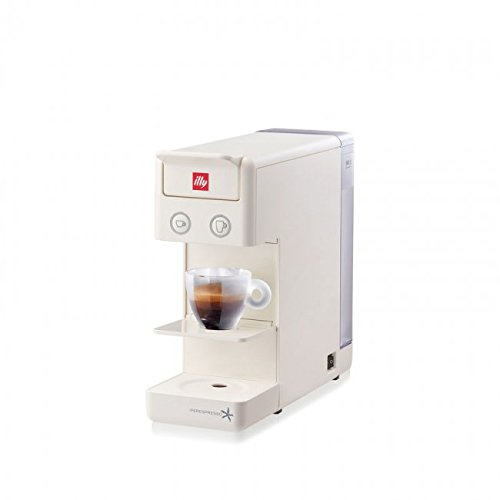 Capsule Coffee Machine ILLY Model Y3.2 Iperespresso Color White, Coffee Machine illy iperespresso Y3.2, Capsule Machine Ideal for Espresso Coffee and American Coffee
