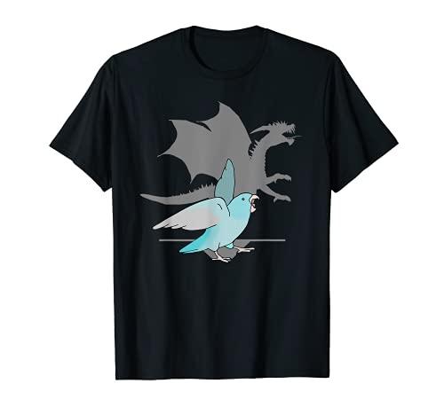 Parrotlet Blue Pacific con Dragon Shadow Birb memes Loro Camiseta