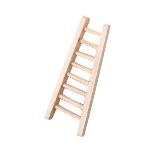 lulongyansf Simulación de Escalera muñeca de Juguete para la casa Conjunto Mini Escalera de Madera para la decoración