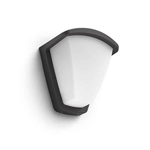 Philips Lighting myGarden Aplique iluminación Exterior, Resistente a la Humedad y la Intemperie E27, Antracita, Blanco, sin bombilla
