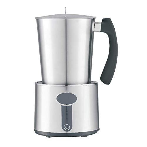 Leche Frometer leche caliente y fría Leche Frother Electric Fancy Coffee Milk Máquina de espuma Máquina Máquina Calentador Máquina Sencillo Para usar (Color: Plata, Tamaño: 18.5x12.5x22.4cm) YXF99