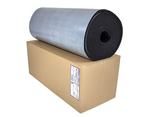 Dämmmatten Selbstklebende Kautschuk Isoliermatten 19mm Dämmung Isolierung 1m² - 8m² Markenqualität Insul-Roll XT (19mm - 8m² 1 Karton)