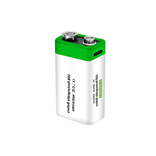 beeyuk Rechargeable Lithium Battery AAAA9V 650mAh USB Cycles TYPEC Line Charge 1200 Times Support 15h Fast Charging portable