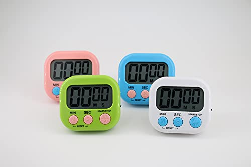 4-Piece Multi-Function Electronic Timer, Kitchen Timer, Learning Management Timer, Suitable for Kitchen, Study, Work, Exercise Training, Outdoor Activities(not Including Battery).