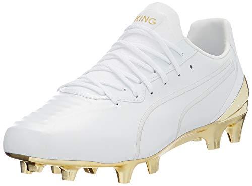 PUMA King Platinum FG/AG, Scarpe da Football Uomo, White Team Gold, 39 EU