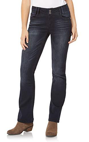 WallFlower Women's Instastretch Luscious Curvy Bootcut Jeans, BlackBerry, 15 Long