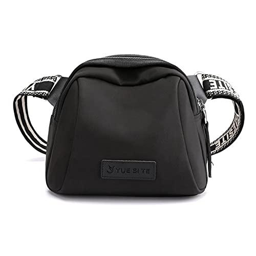 VCBMRT Borsa a Tracolla Messenger Fashion, Borsa a Conchiglia Donna Messenger Borsa Piccola Trend in Tessuto Oxford, Borsa a Tracolla in Nylon Tempo Libero (Black)