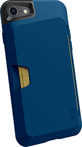 Silk iPhone 7/8 Wallet Case - Wallet Slayer Vol. 1 [Slim + Protective + Grip] Credit Card Holder for Apple iPhone 8/7 - Blues on The Green (Renewed)