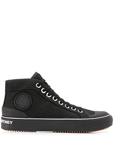 Luxury Fashion | Stella Mccartney Dames 800030N00461000 Zwart Katoen Hi Top Sneakers | Lente-zomer 20