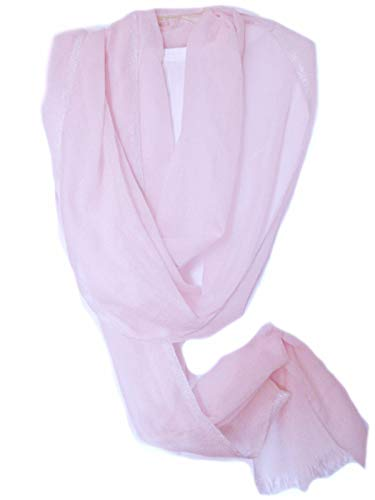 Eileen Fisher Ethereal Cashmere w/Sparkle Edge PALE PINK Wrap Scarf MSRP $218.00
