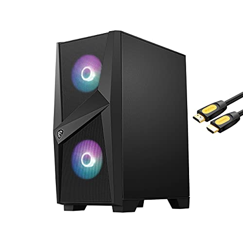 MSI Codex ZS Barebone, AMD B550 Motherboard, 550W 80+ Power Supply, 4X 288 Pin DIMM DDR4 Slots, 2X M.2 PCIe Slots, 1x HDMI w/ Mytrix_HDMI Cable