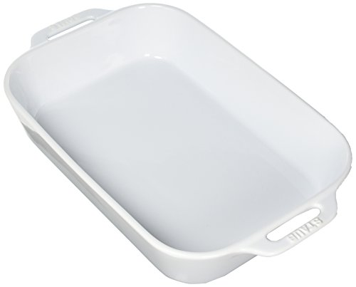 STAUB Ceramics Rectangular Baking Dish, 13x9-inch, White