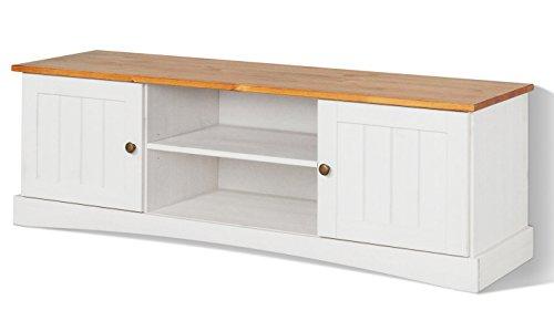 LifeStyleDesign Lowboard, Holz, Weiß