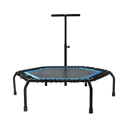 Rebounder Trampolines 50' Home Yoga Weight Loss Trampoline Indoor Adult Fitness Exercise Trampoline Outdoor Children's Entertainment Bouncing Bed Foldable with Armrest Max Load 150kg Exercise Equipmen