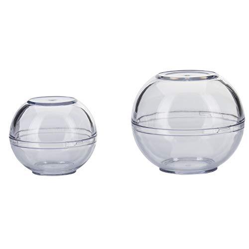 Westmark 2 Frischhaltekugeln, stapelbar, Größen: ø 7cm + ø 9cm, Set 2-tlg., Kunststoff, BPA-frei, Klar, 25722260