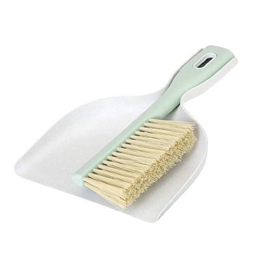 Vigar Zeroline Handy Set, Recycled and Plant-Based Compact Dust Pan and Brush, Ergonomic Handles, Stores Easily, Light Gray