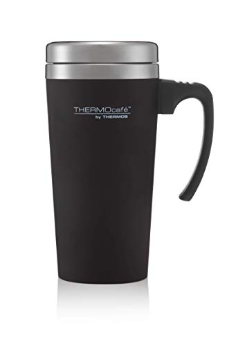 Thermos ThermoCafé Soft Touch Travel Mug, Black, 420 ml