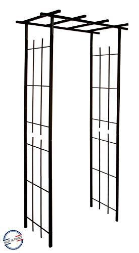 Louis Moulin 3289920030466 Pergola für Kletterpflanzen, schmal, quadratisch, Eisen, antik, 97 x 40 x 198 cm