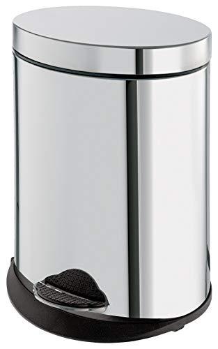 Gedy Papelera WC, Acero Inoxidable, Cromo, 24.4 cm
